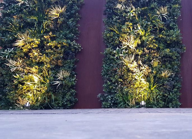 uplit artificial green wall