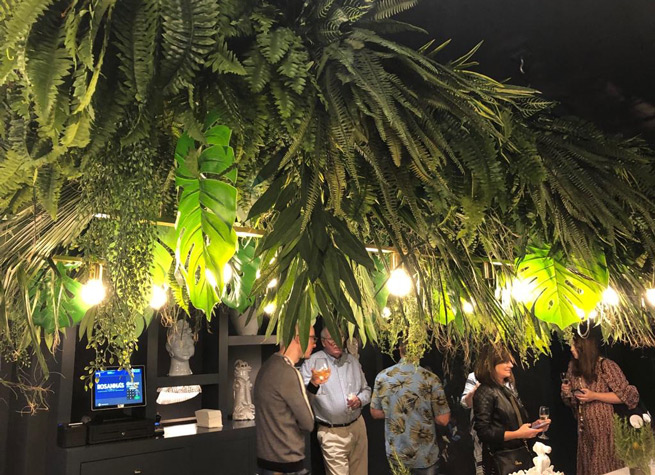 ceiling decor using artificial plants